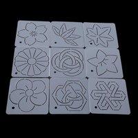 Nähen Vorstellungen Werkzeuge 9pcs / satz Crimpenvorlage Dornen Sub bestickte Quilting Vorlagen Patchwork Handmade DIY Werkzeugsatz