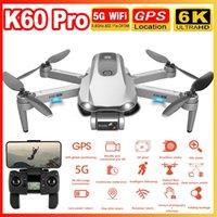 K60 Pro RC DRONE 5G GPS WIFI FPV con 6K ESC HD Cámara de 2 ejes Anti-Shake Gimbal sin escobillas Piedalsional Helicóptero Quadrocopter 201221