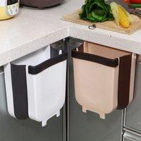 Montado en la pared Plegable Bandeja de residuos Cocina Basura Can Home Gabinete Trash Baño Baño Baño Aseo Residuos Contenedor de almacenamiento