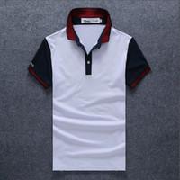 20ss dropshipe 고품질 Crocodile 폴로 셔츠 남성 단단한 면화 반바지 폴로 여름 폴로 옴므 티셔츠 망 폴로스 셔츠 Poloshirt SP9018