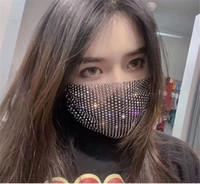 Designer Strass-Maske Luxus Glänzende Masken für Frauen Tide Street Party Nachtclub Facewear 11 Farben