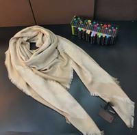 Buena Bufanda de Qualtiy para mujer Bufanda de seda de lana Mujeres Bufandas 2019 Fashion Square Bufandas Grandes Tamaño 140x140cm