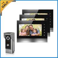 Téléphone vidéo téléphonique câblé interphone interphone sonnette Système 7 '' TFT-LCD moniteur écran avec une caméra d'extérieur IR Coms