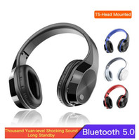 T5 Wireless Headphones Support TF Card 3. 5mm Jack LED Light ...