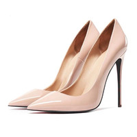 Kleidschuhe junetxin klassiker wellig muster frauen pumpen plus größe 34-42 high heels spitz fashion 12 cm sexy