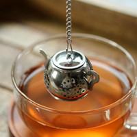 Oro 304 Acero inoxidable Infusor Infusor Tetera Tetera Tetera Spice Tea Strainer Filtro de hierbas Accesorios Tea Herramientas Té Infuser ZZC3973