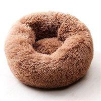 WillStar الكلب السرير الشتاء الدافئ طويل أفخم سرير النوم نوم اللون SOILD اللون الناعمة الكلاب القط حصيرة وسادة دروبشيبينغ 201223