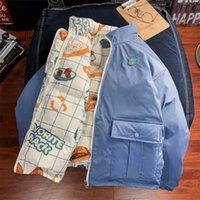 HWLZLTZHT çift taraflı kadın ceket kış artı boyutları aşağı ceket karikatür baskı kış ceket Kawaii Harajuku kadın parka 201217