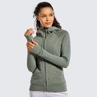 Corriendo chaquetas de mujer con capucha de algodón para mujer Entrenamiento deportivo con capucha completa con capucha con capucha con capucha Agujeros Sweatshirt1