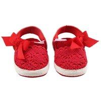 Erste Wanderer Baby Kinderkleidungsschuhe, Anti-Rutsch Aushöhlen Schuhe Bowknot Vorwanderer Wohnung für Mädchen, Weiß / Gelb / Rot / Rosa
