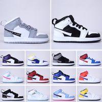 Niños zapatillas de deporte bebés niños pequeños revelados oficialmente 35 aniversario d x j 1 alto og lobo gris chicago pj tucker kim jones zapatos
