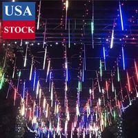 Chute de pluie Lumières de décoration, TOPIST douche étanche LED Meteor lumières, LED Icicle neige automne Chaîne Cascading Fée