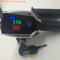 24v36v48v60v72v Twist Accélérateur avec verrouillage / porte-clés LCD Display de la tension de tension de tension électrique Scooter électrique VTT tricycle pièces