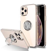İPhone12 Cep Telefonu Kabuk Apple 11 Şeffaf Yüzük Araba Tutucu XS Max Anti-Güz Koruyucu Kapak SE2 Toptan Cep Telefonu Kılıfları