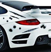6 Types Nouvelle arrivée Autocollants de voitures 3D BULLET BULLET DROIP DOCAL COUVERTURES DE VOITURE DE LA MOTOLETTE SCRATURE REALISTIQUE BULLET ALTOCKERS DE L'ÉTAPILE