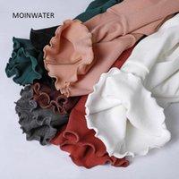 Mulheres T-shirt Mulheres Moinwater Mulheres Moras Manga Longa Camiseta Lady Black Grosso Base para Inverno Feminino Soft Casual Tees Tops MLT2030