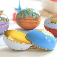 Stuffie di Pasqua Barattolo di stagno a forma di uovo a forma di uovo stampato Stampa vuota Latta vuota Can FAI DA TE Candele fatte a mano Candele Candy Cookie Contenitori di stoccaggio