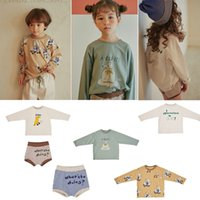 L* Dou* Children Long Sleeve Cartoon T Shirt Korean Brand Ba...