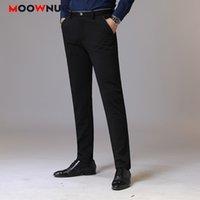 Pantaloni lunghi autunnali Plus Size Streetwear Slim Pantaloni da uomo Slim Business Casual Elastic Hombre Maschio Moda Straight 38 Brand Moowniuc Y200114