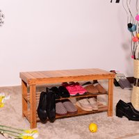 90 cm 입구 신발 보관 랙 대나무 신발 구두 벤치 랙 목재 색을위한 의자를 변경