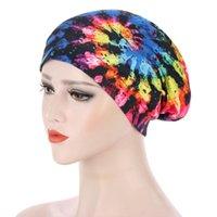 Beanie / Kafatası Kapaklar Kadınlar Afrika Çiçek Baskı Saten Gece Uyku Bonnet Şapka Saç Bakım Kap Kafa Wrap Büyük Aşınma Bayanlar Headwrap