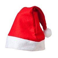 200 قطع الأحمر سانتا كلوز قبعة الترا لينة أفخم عيد الميلاد تأثيري القبعات عيد الديكور الكبار عيد الميلاد حزب القبعات GWE2895