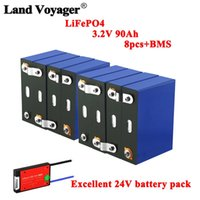 3.2V 90AH-Batterien Pack LifePo4 Lithium-Phospha Große Kapazität 12V 24V 48V Motorrad Elektroautomotorbatterie Kann 4s 8s BMS verdienen