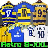 1998 1999 2000 Parma Retro Futbol Jersey Ev 95 97 98 99 00 Baggio Crespo Cannavaro Futbol Gömlek Stoichkov Thuram Futbol Camisa 01 02 03