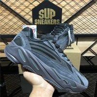 Chaussures de course de qualité supérieure 700 Wave Runner Isertia Reflective Tephra Solid Grey Utility Black Vanta Hommes Femmes Sport Formatrice Sneakers avec boîte