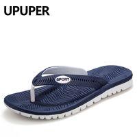 Upper Sommer Männer Flip Flops Männliche Mischfarbe Hausschuhe Männer Casual PVC EVA Schuhe Sommer Mode Strand Sandalen Größe 40 ~ 45 Q0112