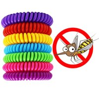 Moskitoabweisende Armband Multicolor Pest Control Armbänder Insektenschutz Camping Wasserdichte Spiralarmband Outdoor CCD3303