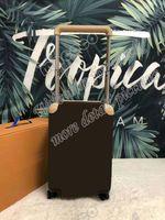 Stile classico Valigie di alta qualità Valigie da 20 pollici Bagagli Rotolamento bagaglio a quattro ruote carrello Borsa da viaggio con serratura password