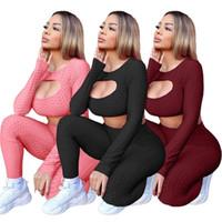 Tenues 2 pièces Ensembles de yoga pour femmes Femmes Tracksuit Designers Vêtements Plaine Jogging Suit Top SweatSuit Leggings Loungewear 3 Couleurs 4349