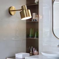 황동 머리맡의 벽 램프 현대 크리 에이 티브 욕실 거울 라이트 거실 침실 침실 sconce 통로 벽 조명