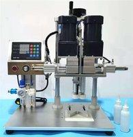 Máquina de selagem do alimento de vácuo 2021 Capper de spray elétrico semi-automático + máquina de tampagem + captper de garrafa multifuncionais com tamanho da tampa 18-70mm
