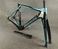 20 ألوان بيانكي XR4 الإطار الكربون الطريق دراجة إطارات دراجة إطارات مع شوكة + seatpost + سماعة + المشبك BB386 أسود في المخزون