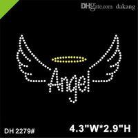 Kostenloser versand qualität engel wings eisen auf jubeln strass wärme transfer hotfix kristall diy dh2279 #