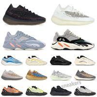 Yeezy Boost 700 700 V2 Dalga Koşucu Yansıtıcı Koşu Ayakkabıları Kanye Karbon Atalet Tephra Erkek Kadın Sneakers Katı Gey Analog Teal Ayakkabı Trainer EUR 36-45 S25