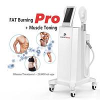 Máquina de salão de salão Hiemt Pro emagrecimento Ems Muscle Building Fat Burning Alta intensidade Focado dispositivo eletromagnético