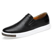 20189 New Men's Leather Loafers Casual Shoes Size 44 Cow Leather Soft Man White Shoes Spring Leisure Leather Loafers