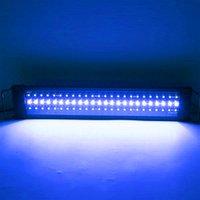 새로운 디자인 25w 108led 태양 빛 잔디 램프 원격 제어 부드러운 빛 28.54inch 검은 28.54-42.32inch 긴 수족관에 적합
