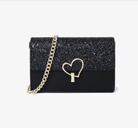 Lederkupplung für Frauen Abendtaschen Mode Kette Geldbörse Dame Umhängetasche Handtasche Presbyopic Mini Packung Messenger Bag Kartenhalter 010