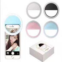 Rodada Selfie LED anel flash luz portátil telefone celular selfie lâmpada luminous clipe para iphone 12 xs mas 8 plus samausng xiaomi