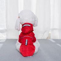 Cão Chuva Casaco com Chapéus Cat Tactic Cor Sólida Roupas À Prova D 'Água Deck Botão Snap Botão Pocket Roinwear Pets Produtos Venda Quente 14 5SL G2