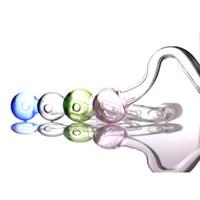 Fábrica atacado colorido pyrex vidro de vidro de queimador de óleo 10mm 14mm 18mm masculino pyrex pirer pipe tubos de vidro claro