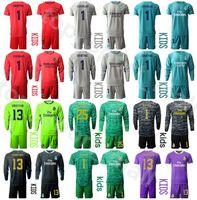 Kits de camiseta para niños de manga larga Portero Real Madrid Thibaut Courtois juventud Jersey portero Iker Casillas Conjunto Keylor Navas Paco Buyo Fútbol