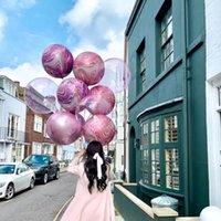 Parti Dekorasyon 1/3 adet 22 inç 4D Akik Altın Leopar Folyo Balon Düğün Doğum Günü Dekor Po Sahne Bebek Duş Yuvarlak Helyum
