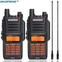 2 pcs Baofeng UV-9R mais walkie impermeável Talkie 8W Alta potência portátil 10km longo alcance uv9r ham rádio + na-771 antena
