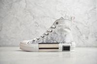 19SS B23 B24 비스듬한 높은 상위 낮은 운동화 비스듬한 인쇄 기술 가죽 19SS 기술 운동화 클래식 신발
