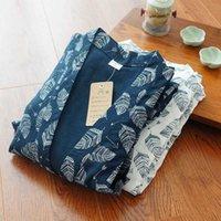 Pantalones de kimono para hombre de primavera y otoño Tallas grandes Servicio de casa Pijamas 100% algodón HANFU Ropa de trabajo japonesa